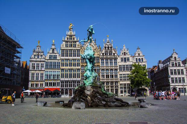 Площадь Гроте-Маркт в Антверпене