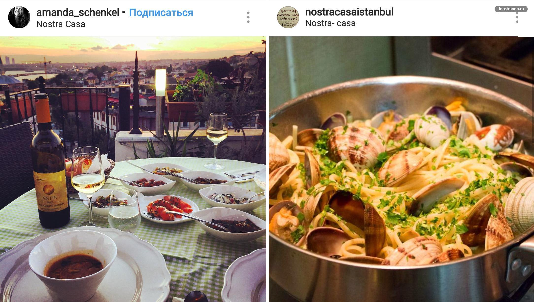 Nostra Casa итальянский ресторан в Стамбуле