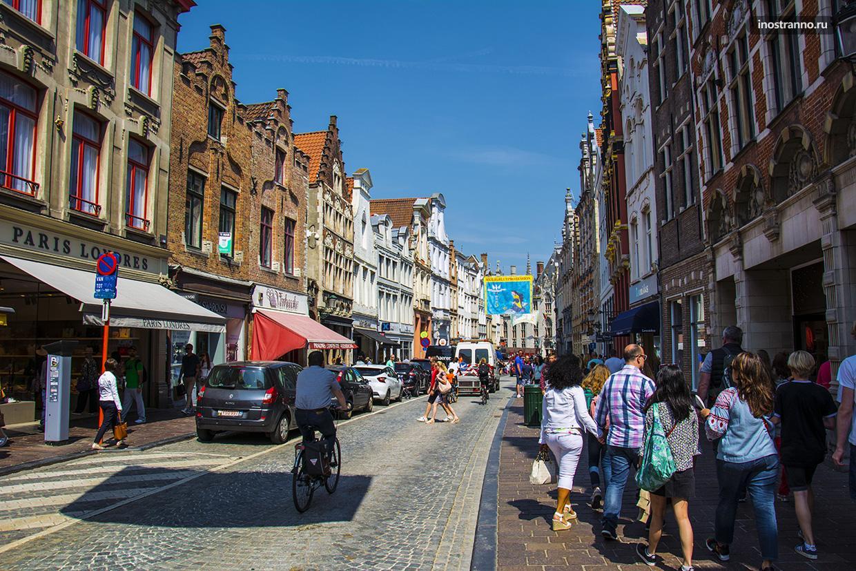 Торговая улица Steenstraat в Брюгге