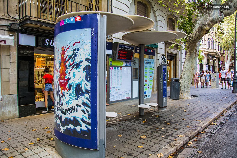 Автобусная остановка на Майорке