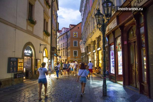 Ночная Прага в жаркий день