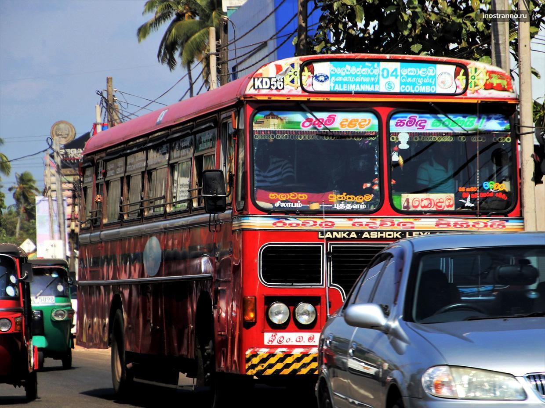 Автобус на Шри-Ланке как добраться из аэропорта Бандаранайке
