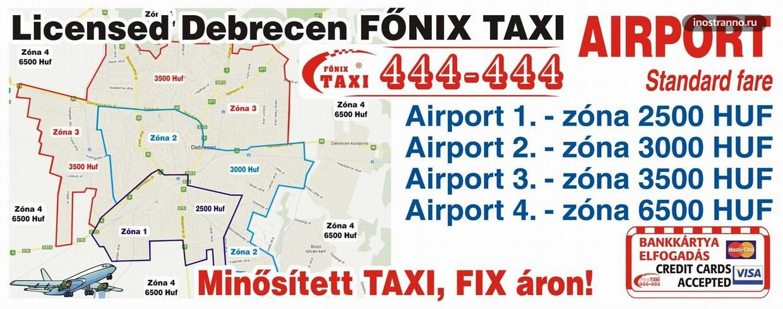Такси из аэропорта Дебрецена