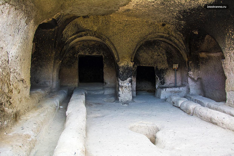Пещерные помещения в Грузии