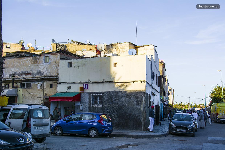 Бедный район в Касабланке