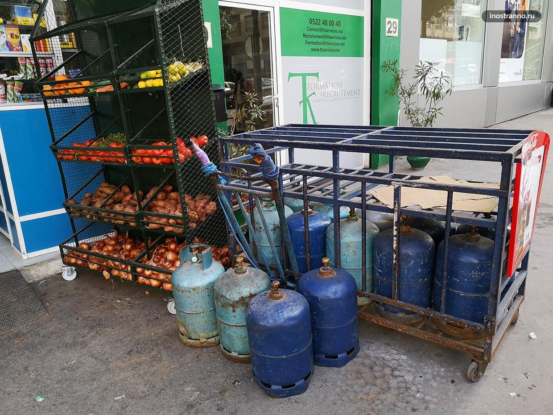 Торговля на улицах в Касабланке
