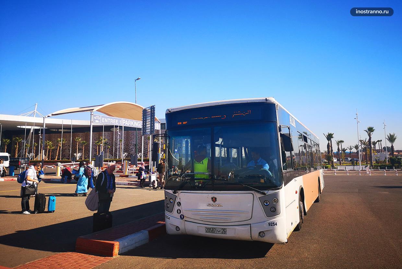 Аэропорт Марракеша автобус как добраться в город