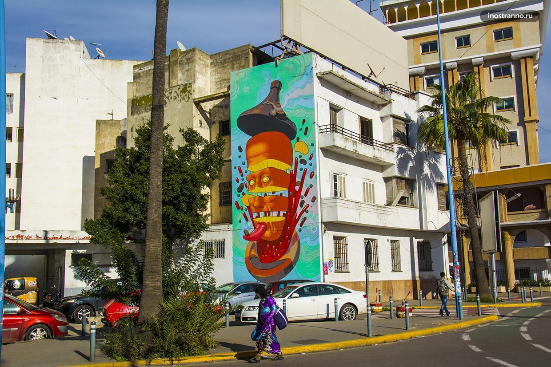 Интересное граффити в Касабланке