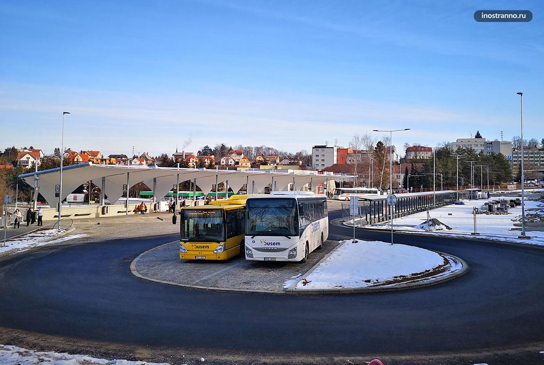 Автовокзал в городе Чешский Крумлов