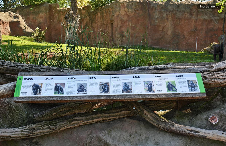 Информационные таблички в зоопарке