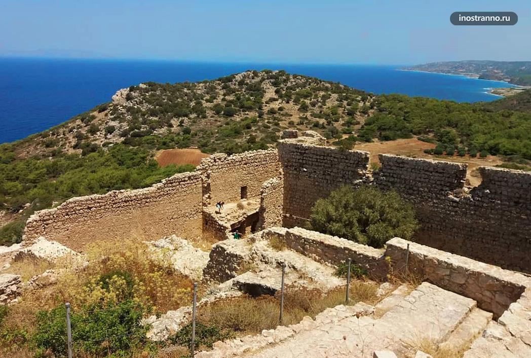 Крепость Критиния на Родосе