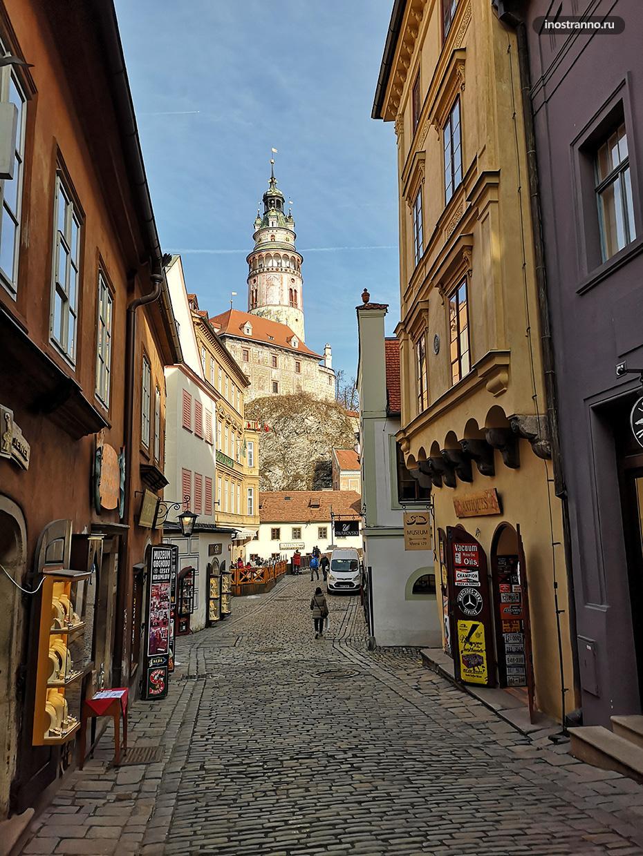 Улица в Чешском Крумлове