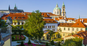 Уютный Вртбовский сад в центре Праги