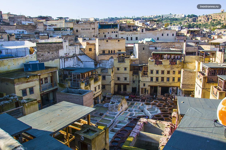 Кожаные красильни города Фес