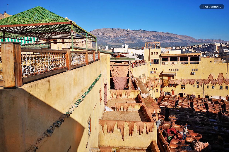 Марокко кожаные красильни
