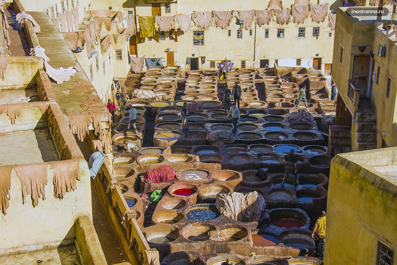 Марокко производство кожи
