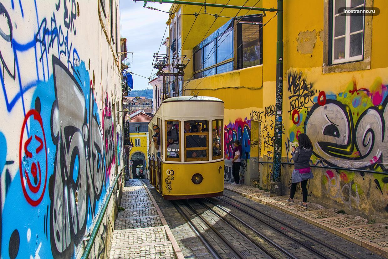 Фуникулер в Лиссабоне
