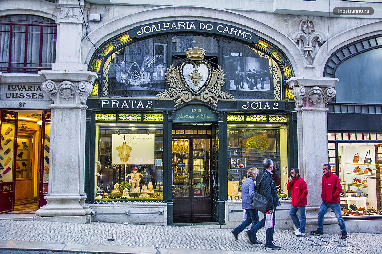 Магазин в Лиссабоне в стиле ар-нуво