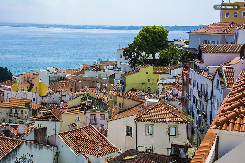 Смотровая площадка Порташ ду Сол в Лиссабоне