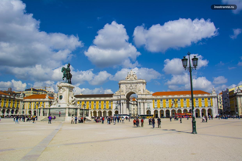 Торговая площадь в Лиссабоне красивая