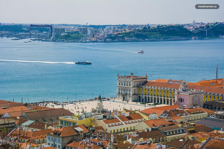Река Тежу в Лиссабоне