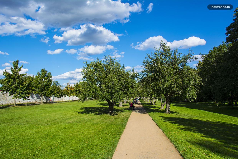 Парк в Праге