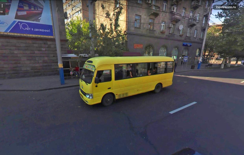Автобус в Ереване