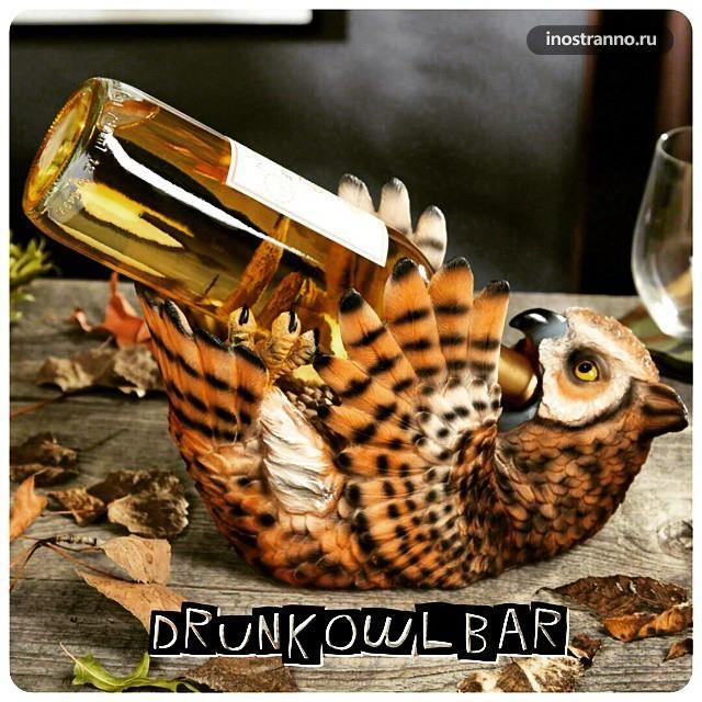 Хороший Бар в Тбилиси Drunk Owl Bar