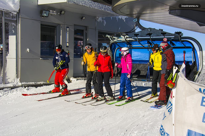 Подъемник на горнолыжный курорт в Европе