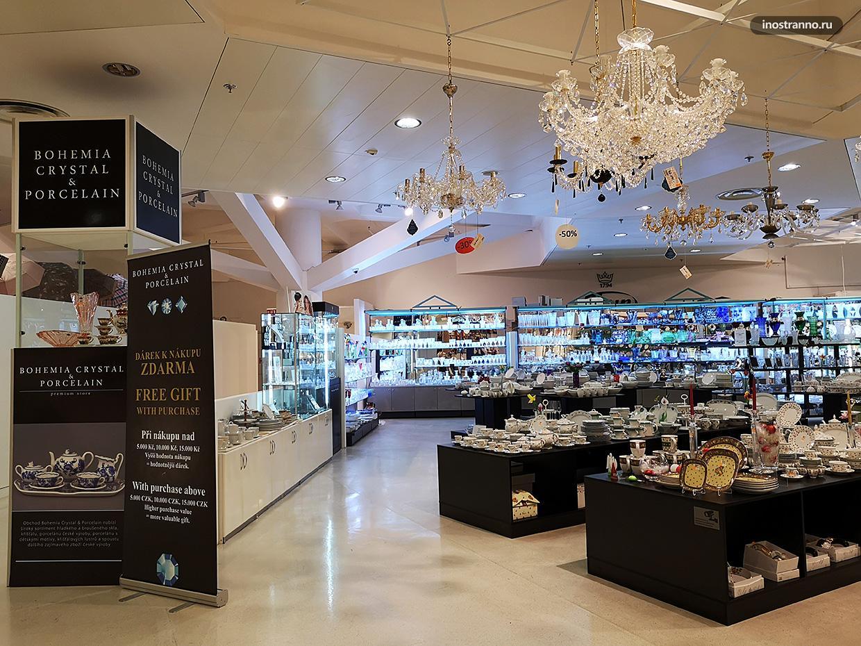 Магазин чешский хрусталь в Праге