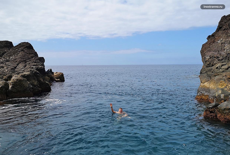 Мадейра купание между скал