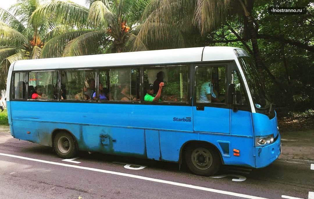 Автобус на Сейшельских островах