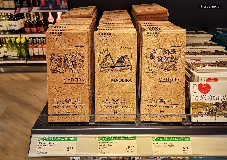 Сувенирный шоколад с острова Мадейра