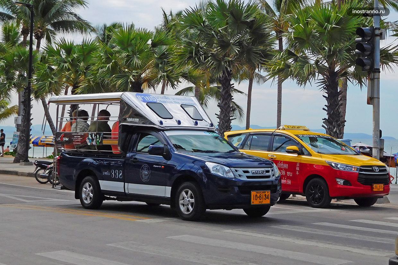Сонгтео главный вид общественного транспорта Паттайи