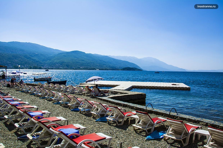 Пляж в Северной Македонии