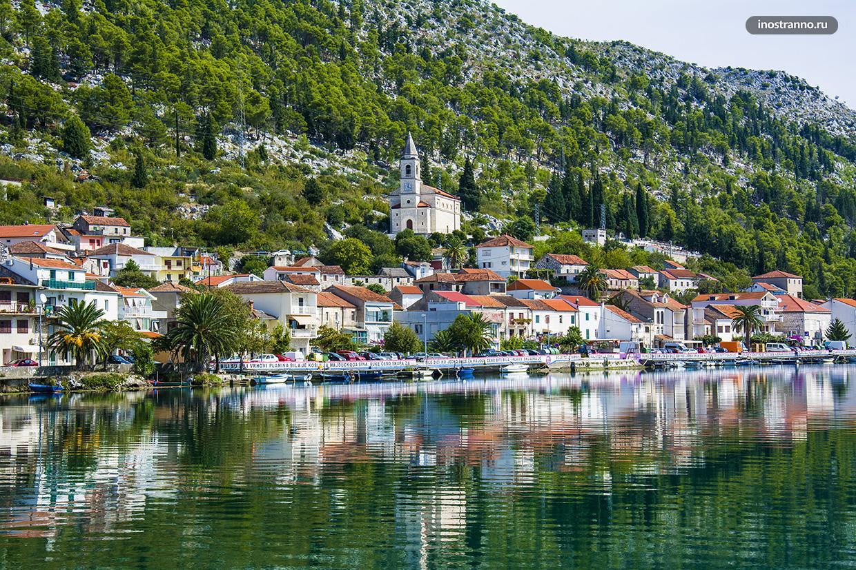 Хорватский город Комин
