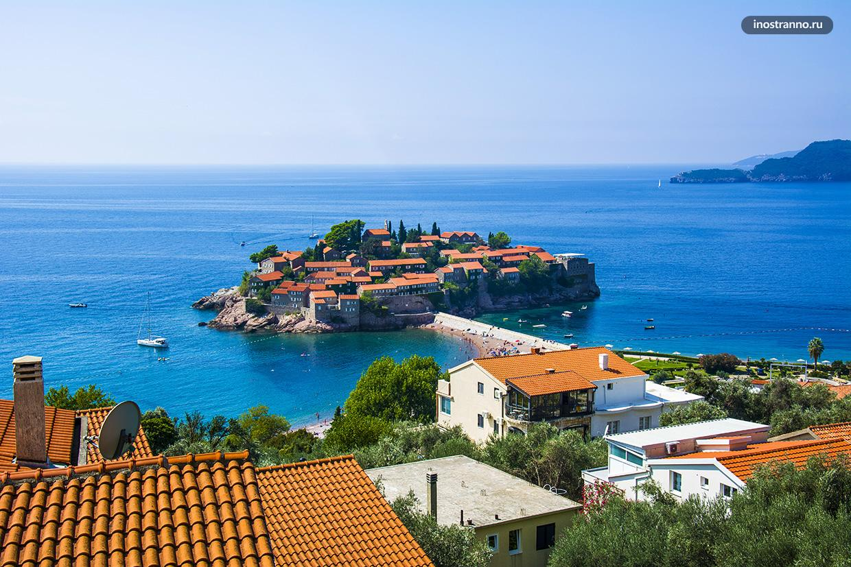 Панорама острова Свети-Стефан