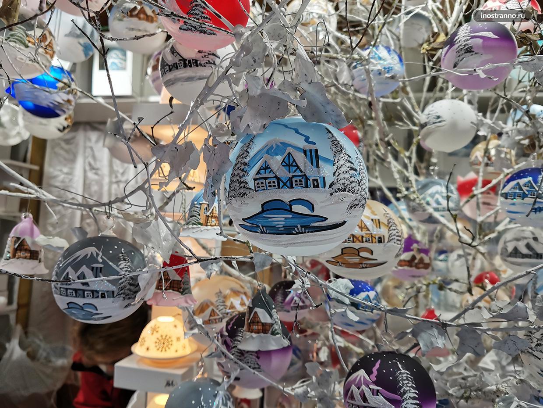 Новогодние шары на елку из Франции