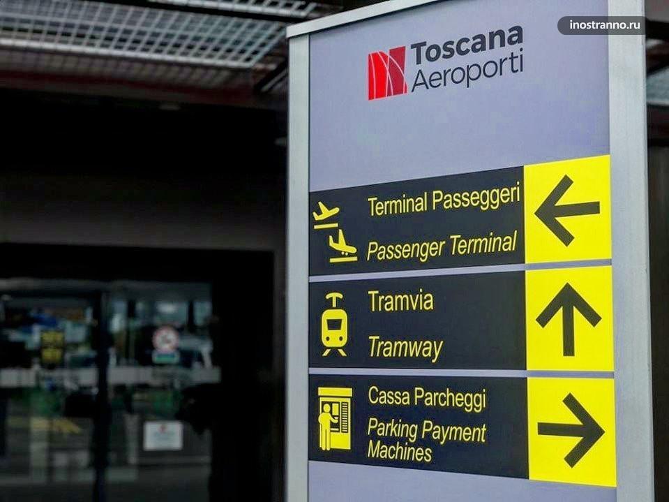 Аэропорт Флоренции как добраться до центра города