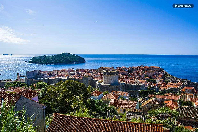Остров Локрум и панорама Дубровника