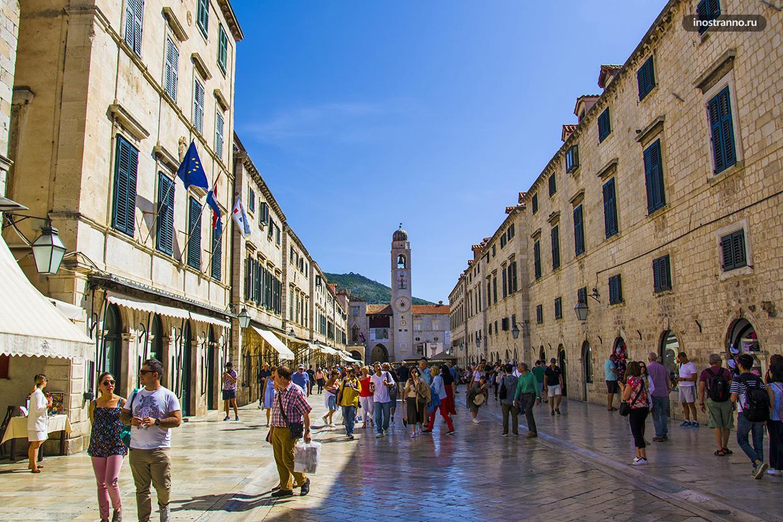 Главная улица Страдун в Дубровнике