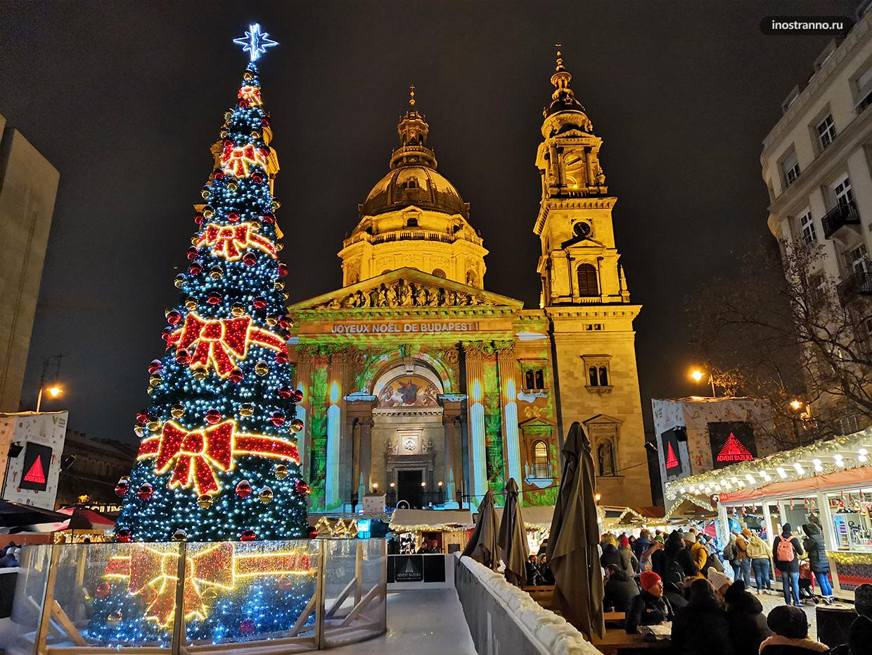 Главная елка Будапешта на рынке