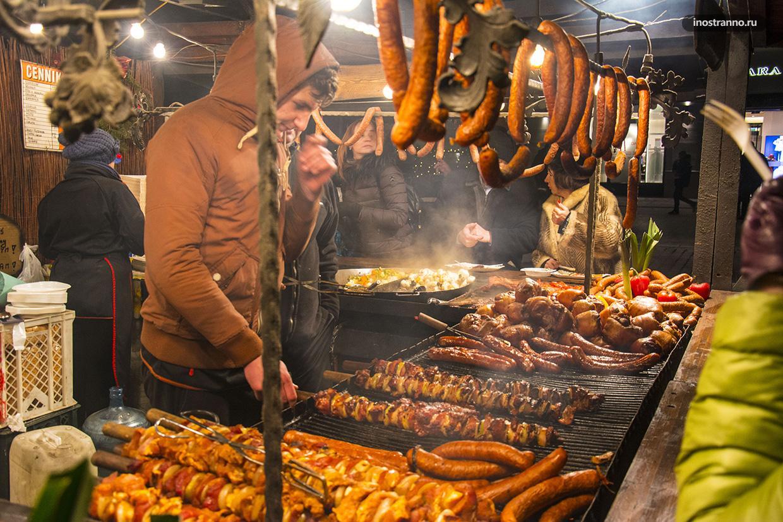Рождественский рынок в Кракове