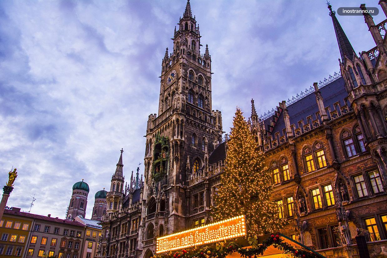 Рождественский рынок в Мюнхене