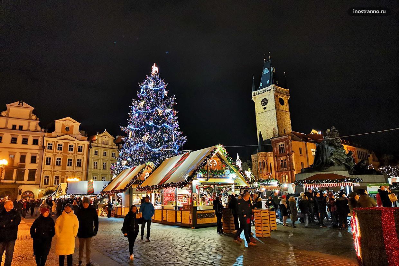 Рождественский рынок в Праге даты и места проведения