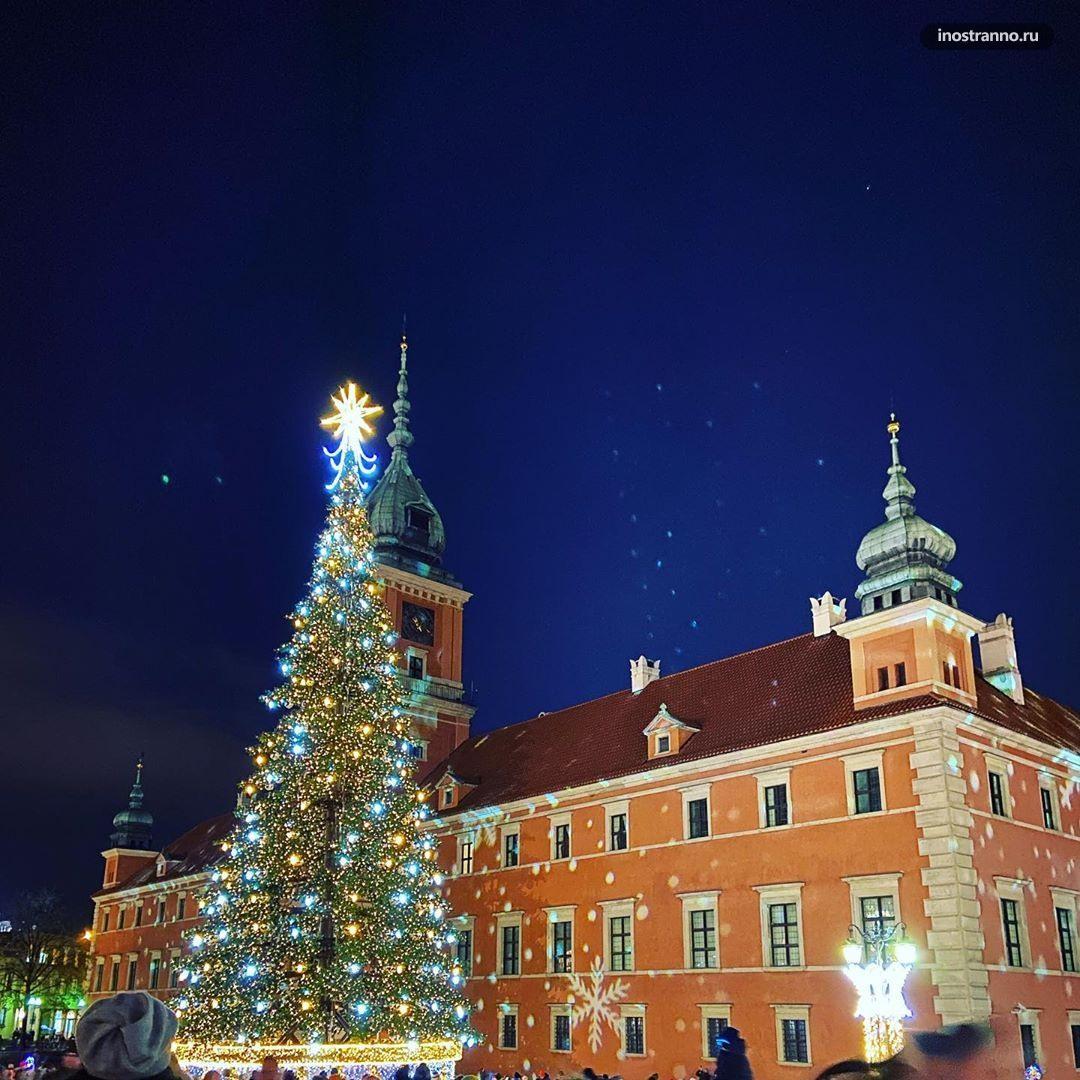 Рождественский рынок в Варшаве