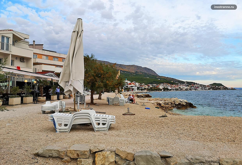 Пляж Grljevac в Хорватии