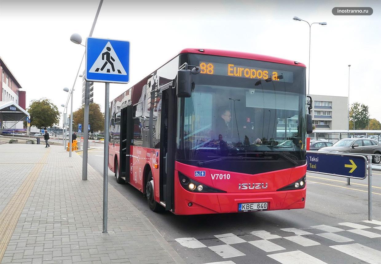Автобус в Вильнюсе