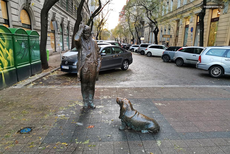 Интересная статуя Коломбо в Будапеште