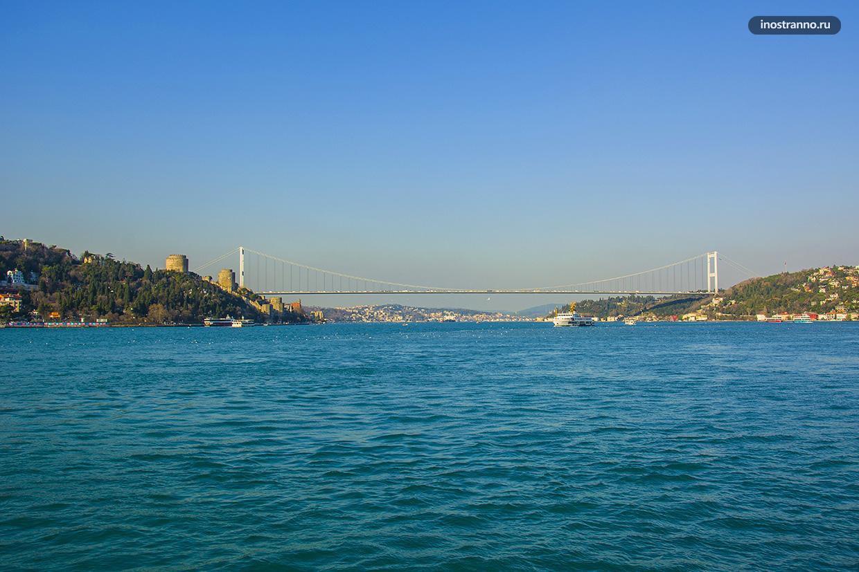 Мост Султана Мехмеда Фатиха в Стамбуле, второй мост через Босфор